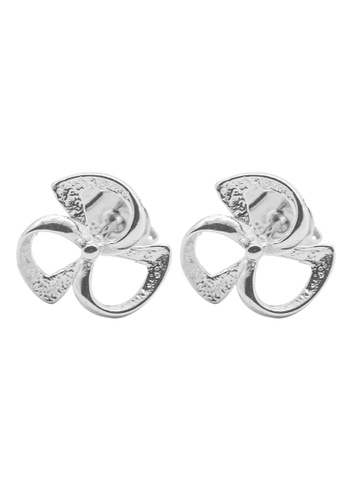 Elfi silver Elfi 925 Sterling Silver Hollow Clover Fashion Earrings SE59 EL186AC0RWR4MY_1
