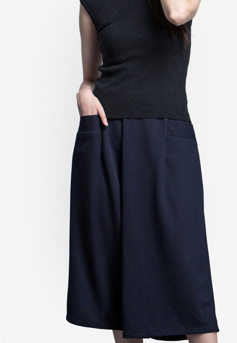 Textured Wide Leg Culottes