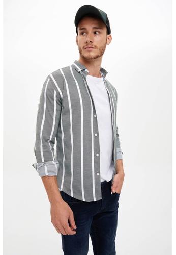 DeFacto grey Man Woven Long Sleeve Shirt 80195AA0514118GS_1