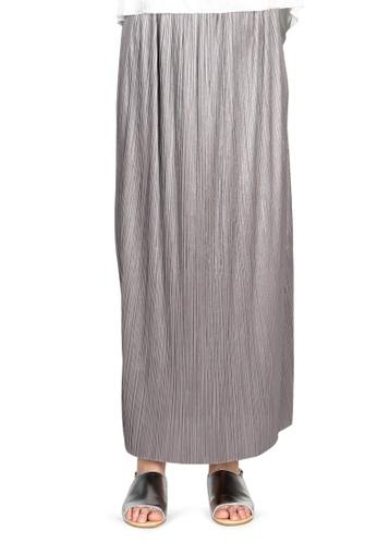 London Rag grey Grey Pleated Maxi Skirt 4F1A6AA1FC011BGS_1