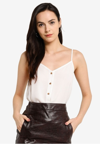 WAREHOUSE white Button Front Cami 27978AA59098DAGS_1