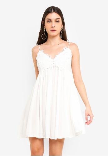 a506060f7bb9 Buy Miss Selfridge White Lace Cami Mini Dress Online on ZALORA Singapore