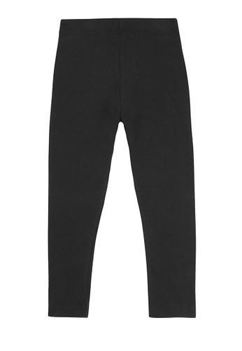 MARKS & SPENCER black Cotton With Stretch Plain Leggings 43B3DKA9BDCB5DGS_1