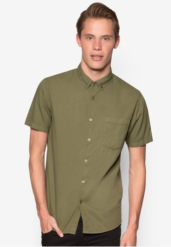 esprit taiwan暗紋短袖襯衫, 服飾, 服飾