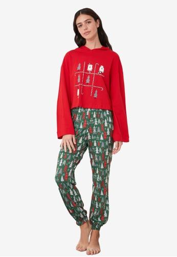 Trendyol multi Printed Hooded Knit Pajama Set 9514CAA2BA0D6CGS_1