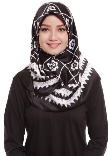 Mybamus Ziggy Square Hijab Satin Black