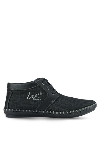 Louis Cuppers black Casual Textured Boots LO977SH0S9RRMY_1
