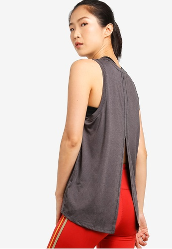 Cotton On Body grey Split Back Tank Top ED78BAA174A680GS_1