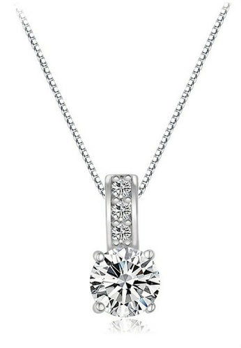 Vivere Rosse silver Starfall Solitaire Pendant Necklace VI014AC53SLQMY_1