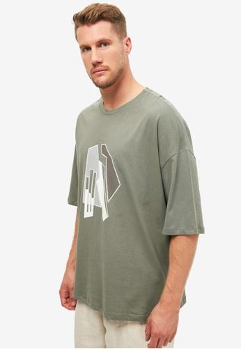 Trendyol green Oversized T-Shirt B72ABAA5494960GS_1