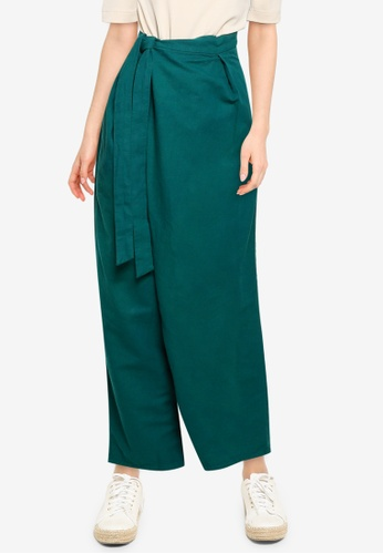 niko and ... green Tie Waist Pants 7A570AABF767E4GS_1