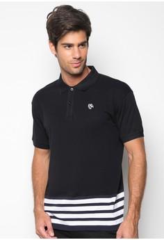 Classic Polo Shirt with Horizontal Stripes