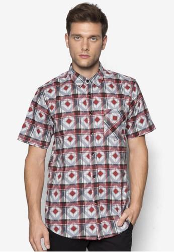 經典印花短袖襯衫, zalora時尚購物網的koumi koumi服飾, 印花襯衫