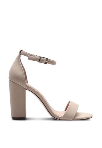 967bac61a77a5 Tayvia Open Toe Ankle Strap Block Heels