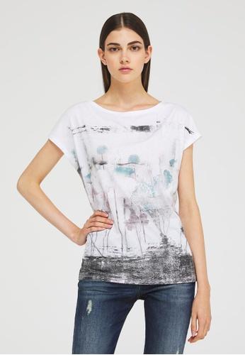 Sisley multi Printed T-shirt E0611AA2F4838EGS_1