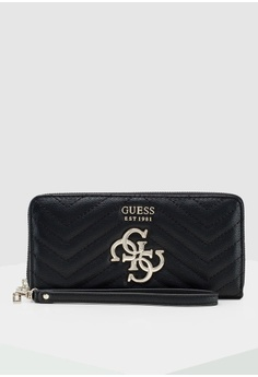 fb1447e037f97c Guess black Violet Large Zip Around Wallet 17E48AC3A909BBGS_1