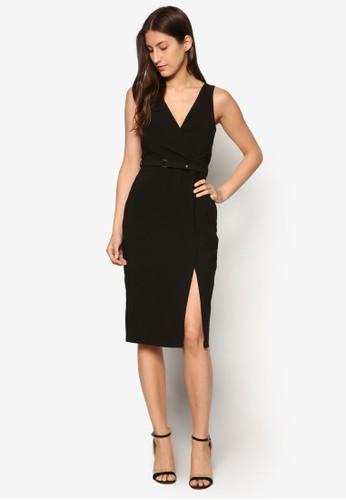 前裹飾腰帶洋裝、 服飾、 服飾DorothyPerkins前裹飾腰帶洋裝最新折價