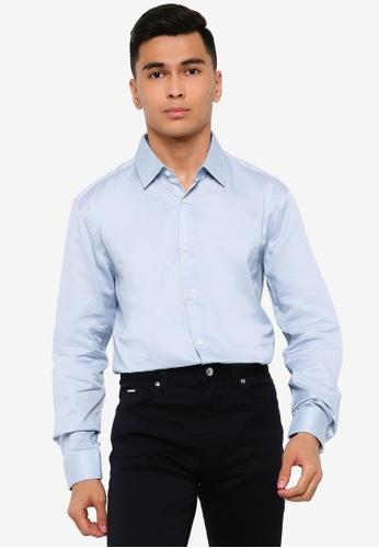 BOSS blue T-Charlie 10218594 Shirt - BOSS Men 1D95EAA8A359A9GS_1