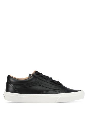VANS black Old Skool Lux Leather Sneakers VA142SH0SX3CMY_1