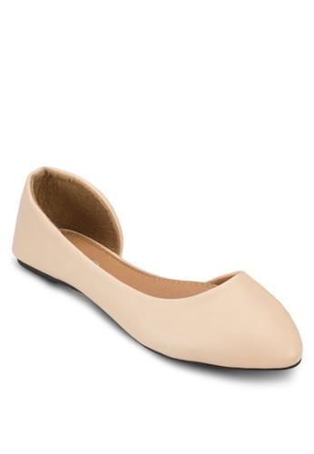esprit官網Pippa 側空尖頭平底鞋, 女鞋, 鞋