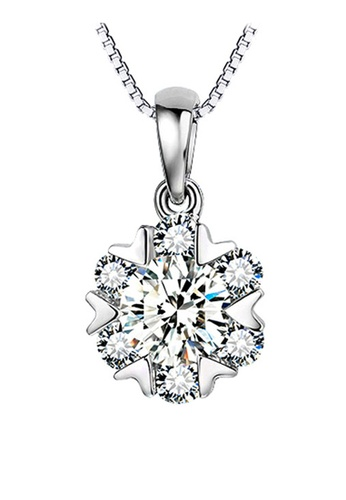 YOUNIQ silver YOUNIQ Snow Dance 925 Sterling Silver Necklace Pendant with Cubic Zirconia YO999AC38SFDMY_1
