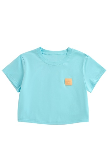 Twenty Eight Shoes Cropped Silicone Stitched Short Sleeve T-shirt 6012GS21 09155AA1C5AA51GS_1