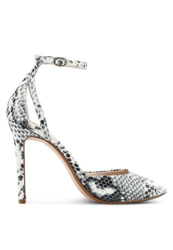 Mango grey Snake-Effect Sandals 9F51DSH57FFD6BGS_1
