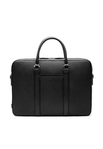 Maverick & Co. black Maverick & Co. Manhattan Monochrome Leather Briefcase (Black) DC7DDAC415E1F2GS_1
