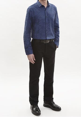 Goldlion blue Goldlion European Fabric Long-Sleeved Shirt CE942AA1E8384EGS_1