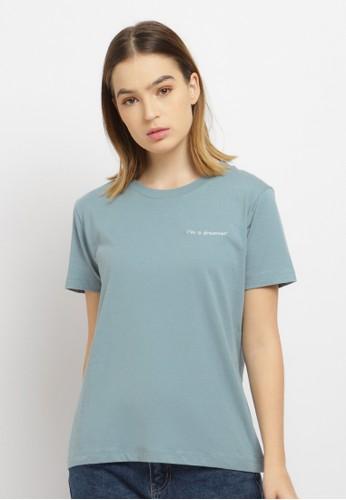 Osella blue Osella Baju Perempuan T-shirt I am a Dreamer Blue 5192BAA68056C5GS_1