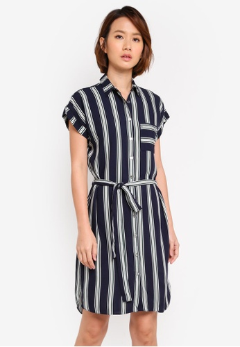 Dorothy Perkins blue Stripe Shirt Dress DF177AA8E25F3FGS_1