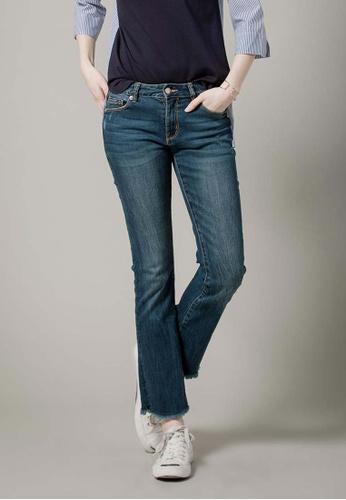 H:CONNECT blue Mini Flared Denim Jeans 9D76AAA85C24CFGS_1