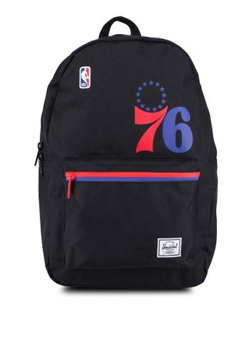 Herschel black Settlement Backpack (Philadelphia 76ers) 78D08AC50E9478GS_1