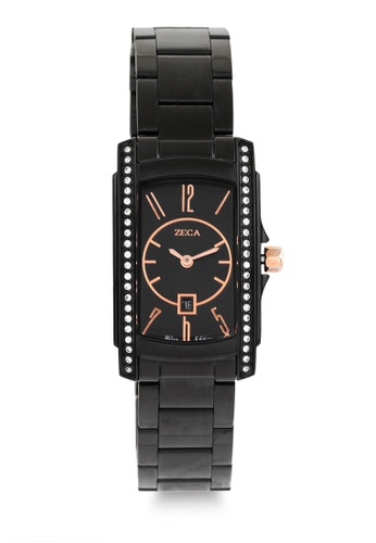 ZECA black Zeca Watches Ladies Fashion Stainless Steel Analog - 1008LB Black ZE260AC0GZCXSG_1