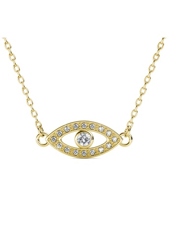 Her Jewellery gold Angel Eye Pendant (Yellow Gold) - Made with premium grade crystals from Austria EEBC6AC56E18BBGS_1
