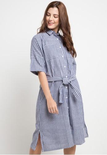 Lois Jeans multi and navy Linen Salur Dress 7164FAA6490DEDGS_1