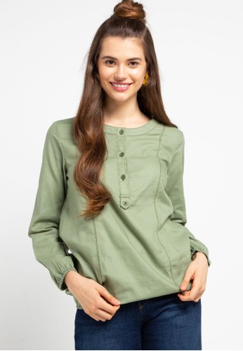 Expand green Indira Blouse 6159CAACEBBD7EGS_1