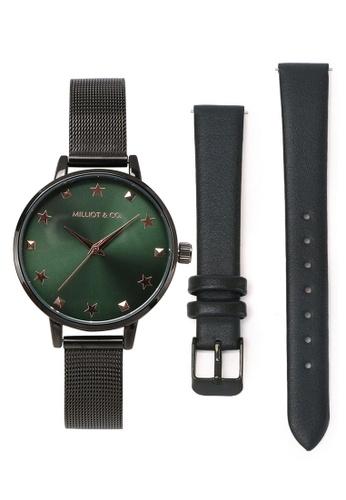 Milliot & Co. 黑色 紫色 手錶 BE34FACD3B69F7GS_1