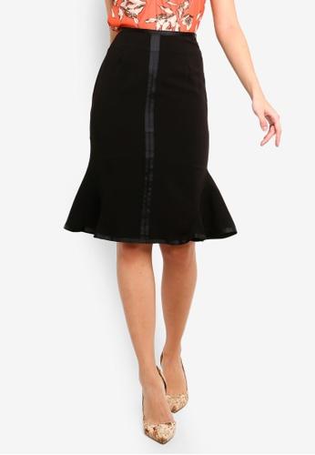 FORCAST black Sharnie Fluted Skirt FC51BAA7E3E0EBGS_1