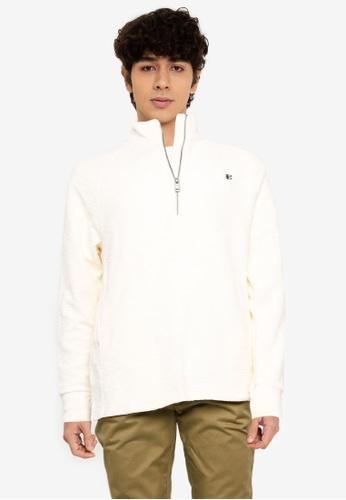 Ben Sherman white Loopback Funnel Neck Sweatshirt 1ED01AAADEE1C2GS_1