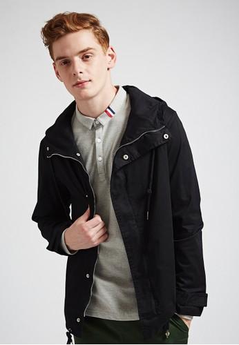 美式街頭。抗皺纖維。防潑水夾克-07349esprit 中文-黑, 服飾, 外套