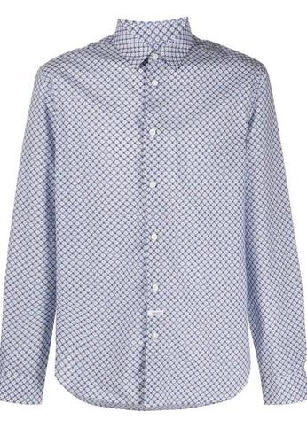 KENZO multi Kenzo Slim Fit 'Tiger Monograme' Shirt in White C5F38AAF872A02GS_1
