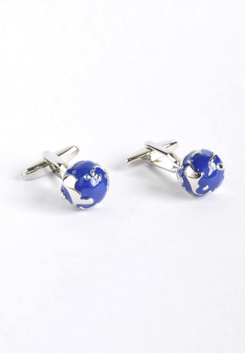 Splice Cufflinks Earth Globe Cufflinks SP744AC04YSHSG_1