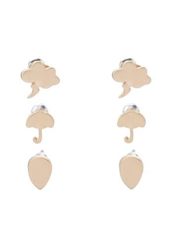 就是愛雨天三入耳針組, zalora 心得 ptt飾品配件, 耳環