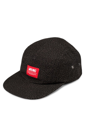 Wrung black Box Suede Five Panel Cap WR395AC17PDUMY_1