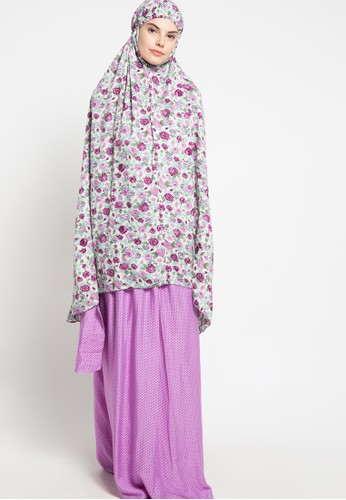 SHALIMAR purple Shalimar Mukena Full Cotton Arabi Polkarose SH713AA70ARLID_1