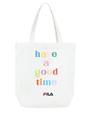 FILA white Unisex FILA x Have a good time Logo Tote bag A06FBAC39D9AE9GS_1