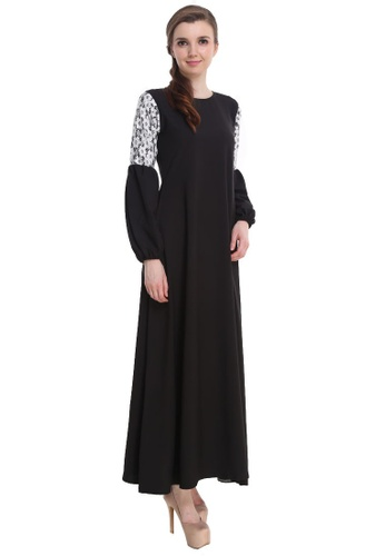 Amar Amran black Jubah Zara 09AB1AAA4C5CA3GS_1
