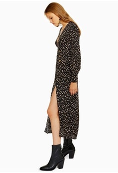 TOPSHOP Petite Printed Button Midi Dress S  109.00. Sizes 6 10 12 6cb4d7c7b