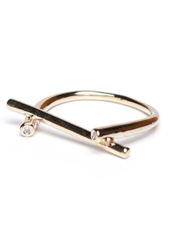 Gung Jewellery gold Strip Minimalist Ring in Gold A864EACAB90B31GS_1